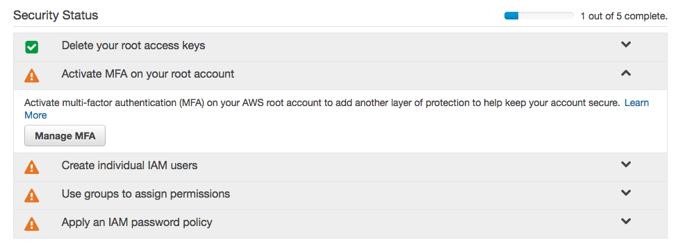 How to set up AWS accounts for multiple product environments
